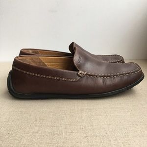 Geox Men EU 42 US 9 Brown Leather Driving Loafers